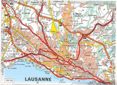 2019 Michelin Switzerland Sheet Map 729 9782067236608 lausanne city map
