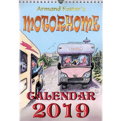2019 Motorhome Calendar cartoons by Armand Forster