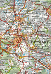 545 Germany Southwest Michelin Regional Map 9782067183667 stuttgart