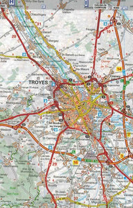 519 Burgundy Michelin Regional Map 9782067135277 troyes