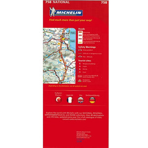 Michelin Turkey Sheet Map 758 9782067173187 back cover