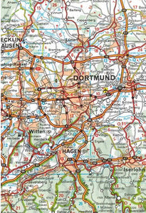 541 Germany Northwest Michelin Regional Map 9782067183544 dortmund