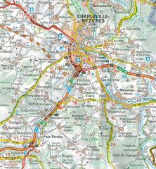 515 Champagne Ardenne Michelin Regional Map 9782067135239 charleville-mezieres