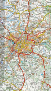 524 Aquitaine Michelin Regional Map 9782067135321 angouleme map