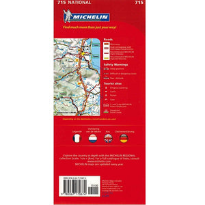 Michelin The Netherlands Sheet Map 715 9782067170674 back cover