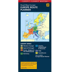 AA Europe Sheet Map 9780749575380 back cover