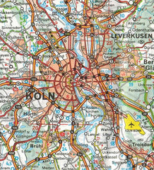 543 Germany Midwest Michelin Regional Map 9782067183605 koln