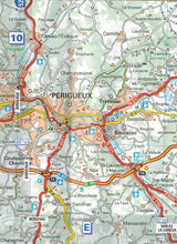 Load image into Gallery viewer, 522 Auvergne, Limousin Michelin Regional Map 9782067135307 perigeux boulazac trelissac map