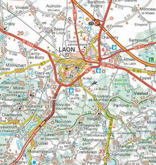 515 Champagne Ardenne Michelin Regional Map 9782067135239 laon