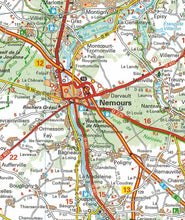 Load image into Gallery viewer, 514 Paris & Surrounding Areas Michelin Regional Map 9782067135222 nemours