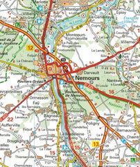 514 Paris & Surrounding Areas Michelin Regional Map 9782067135222 nemours