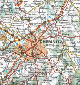 544 Germany Mideast Michelin Regional Map 9782067183636 chemnitz map