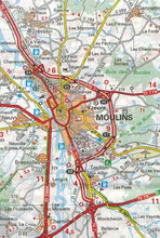 Load image into Gallery viewer, 519 Burgundy Michelin Regional Map 9782067135277 moulins