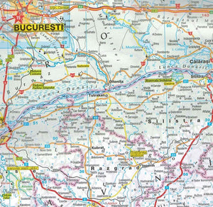 Marco Polo Romania Sheet Map IBSN:9783829770026 Atlas, Altases, Map, Mapping, Locator map
