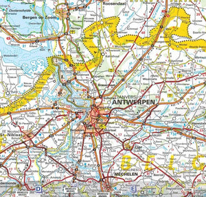 Michelin The Netherlands Sheet Map 715 9782067170674 antwerpen