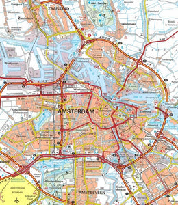 Michelin The Netherlands Sheet Map 715 9782067170674 amsterdam