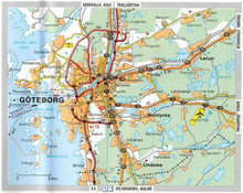 Load image into Gallery viewer, Michelin Scandinavia & Finland Sheet Map 711 9782067170537 goteborg