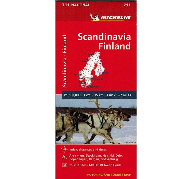 Michelin Scandinavia & Finland Sheet Map 711 9782067170537 front cover