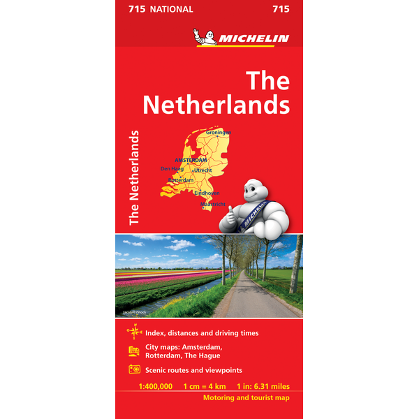 Michelin The Netherlands Sheet Map 715