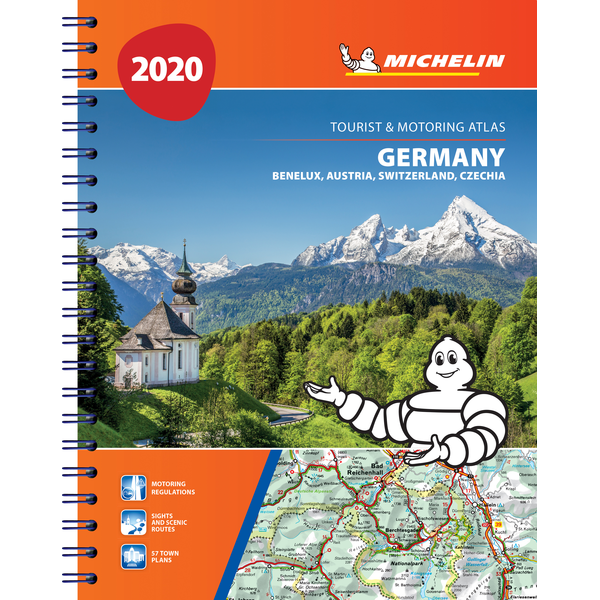 2020 Michelin Central Europe Spiralbound Road Atlas