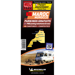 Trailers Park Maroc map locationg Aires and Campsites in Morocco