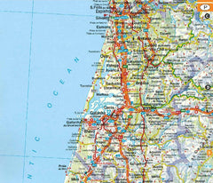 AA Spain and Portugal Road Atlas Spiralbound IBSN:9780749578763 Atlas, Altases, Map, Mapping, Locator map