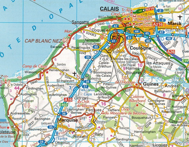 Road Map Of France.2020 Aa France Road Atlas Flexibound