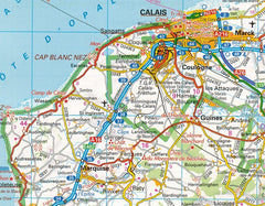 2019 AA France Road Atlas Flexibound 9780749579647 calais map