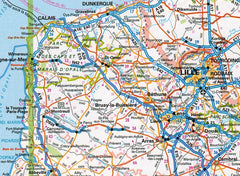 2019 AA France Road Atlas Flexibound 9780749579647 city map calais lille