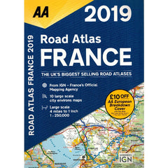 2019 AA France Road Atlas Spiralbound 9780749578725 front cover