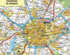 2019 AA France Road Atlas Spiralbound 9780749578725 rennes city map