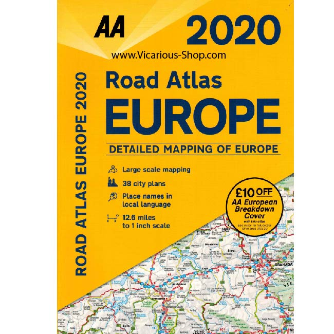 AA Easy Read Europe Road Atlas 2020 front cover
