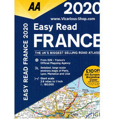 2020 AA France Road Atlas Flexibound