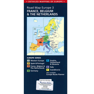 AA France & Benelux Sheet map 9780749579159 back cover