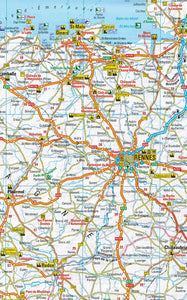 AA France & Benelux Sheet map 9780749579159 rennes map