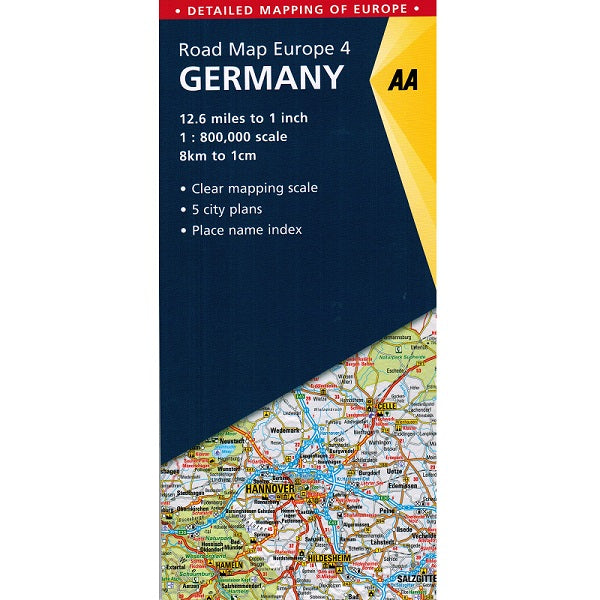 AA Germany Sheet Map 2018 9780749575328 front cover
