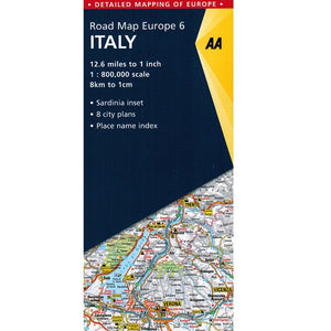AA Italy Sheet Map 9780749579173 front cover