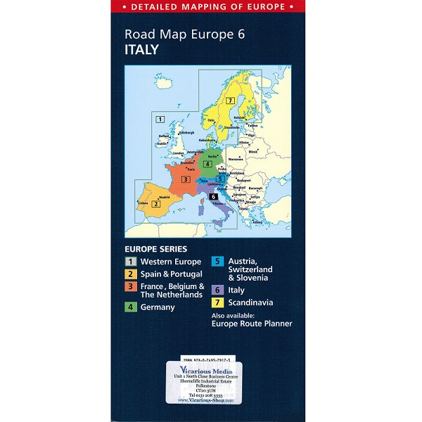 Road Map Of France And Italy.Aa Italy Sheet Map Europe 6