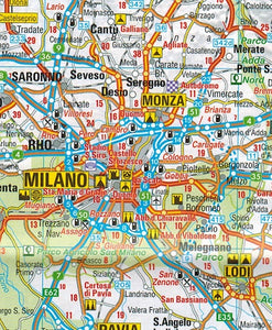 AA Italy Sheet Map 9780749579173 milano