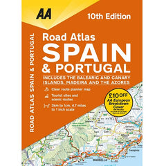 AA Spain and Portugal Road Atlas Spiralbound 9780749581138 front cover