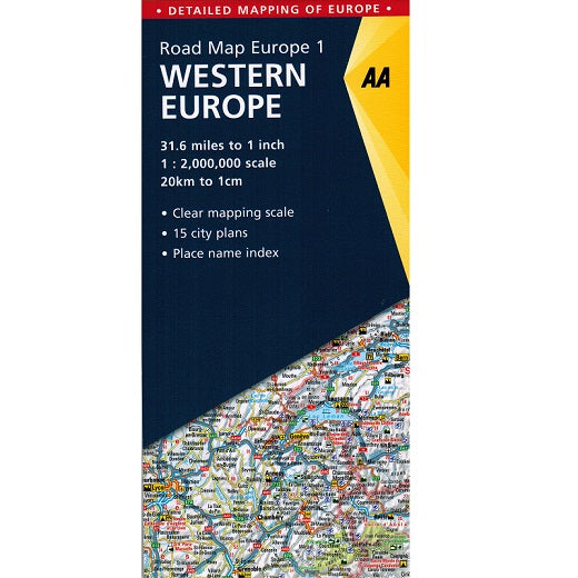 AA Western Europe Sheet Map 2018 9780749579135 front cover