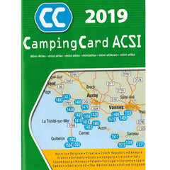 ACSI CampingCard 2019 Discount Camping Europe european Scheme 9789492023698 mini atlas