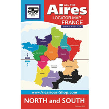 Load image into Gallery viewer, Locator Map All the Aires France North and South - Vicarious Media