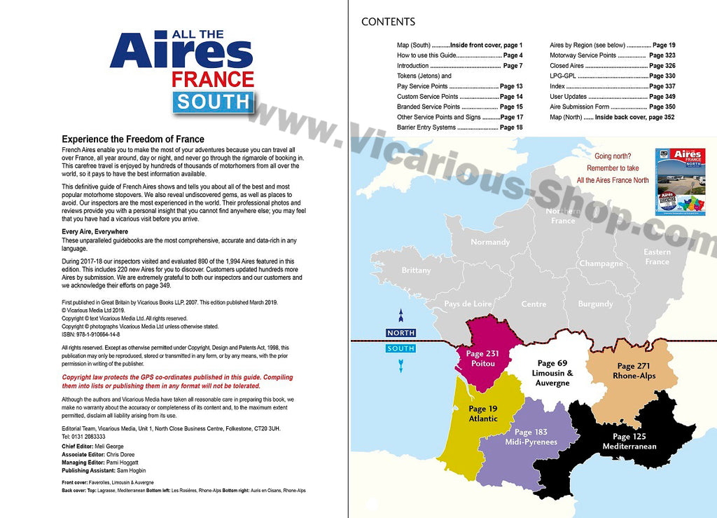 Map Of France South.All The Aires France South 3rd Edition