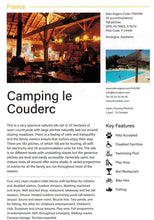 Load image into Gallery viewer, Alan Rogers Naturist Campsites in Europe 9781909057920 camping le couderc entry preview