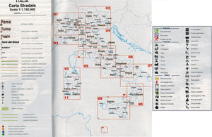 Italian Aree di Sosta CamperLife 2018 carta stradale scale map and key how to use legend