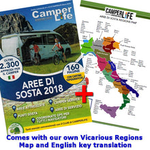 Load image into Gallery viewer, Italian Aree di Sosta CamperLife 2018 front cover