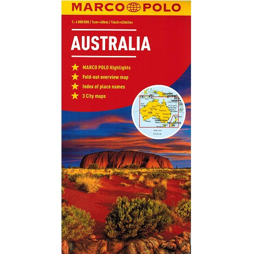 Marco Polo Australia Sheet Map IBSN:9783829767460 Atlas, Altases, Map, Mapping, Locator map