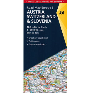 AA Austria, Switzerland, Slovenia Sheet Map 2018 9780749579180 front cover