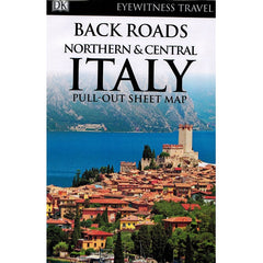 Back Roads Northern and Central Italy 9780241306574 DK Eyewitness Travel guide sheet map